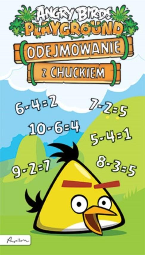 okładka Angry Birds Playground Odejmowanie z Chuckiem, Książka |