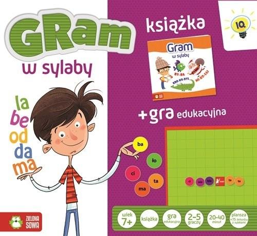 okładka Gra w sylaby książka + gra edukacyjna, Książka   Praca Zbiorowa