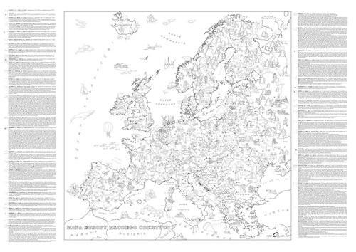 okładka Kolorowanka XXL Mapa Europy Młodego Odkrywcy, Książka   Praca Zbiorowa