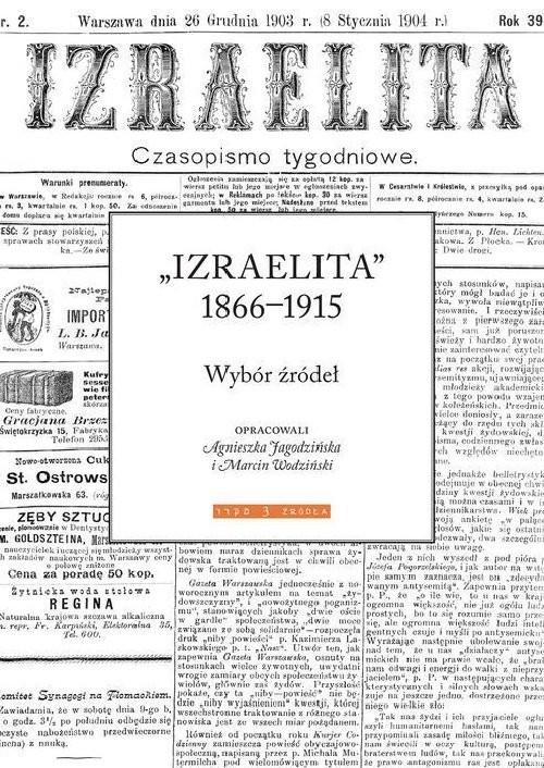 okładka Izraelita 1866-1915, Książka | Agnieszka Jagodzińska, Marcin Wodziński