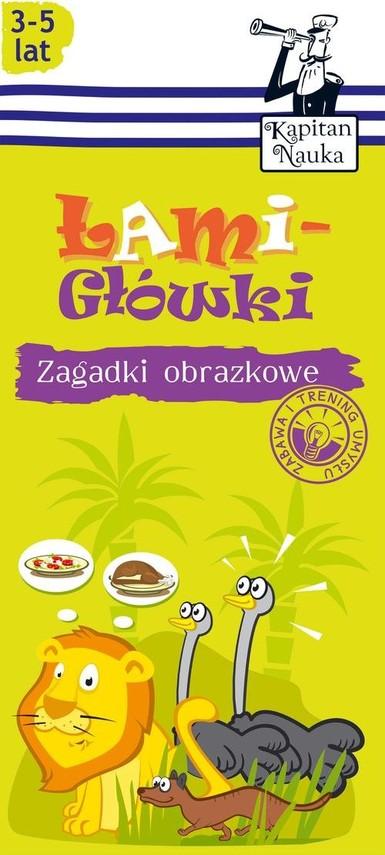 okładka Zagadki obrazkowe Łamigłówki 3-5 lat, Książka | Natalia Minge, Krzysztof Minge