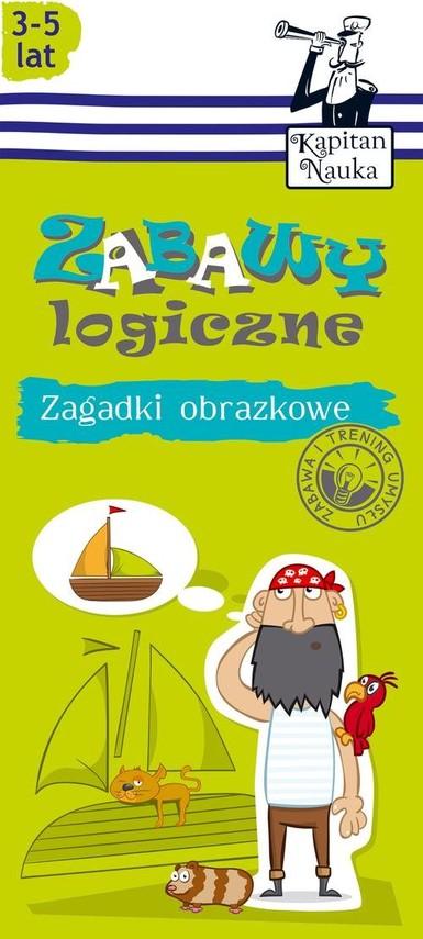 okładka Zagadki obrazkowe Zabawy logiczne 3-5 lat, Książka   Trepczyńska Magdalena