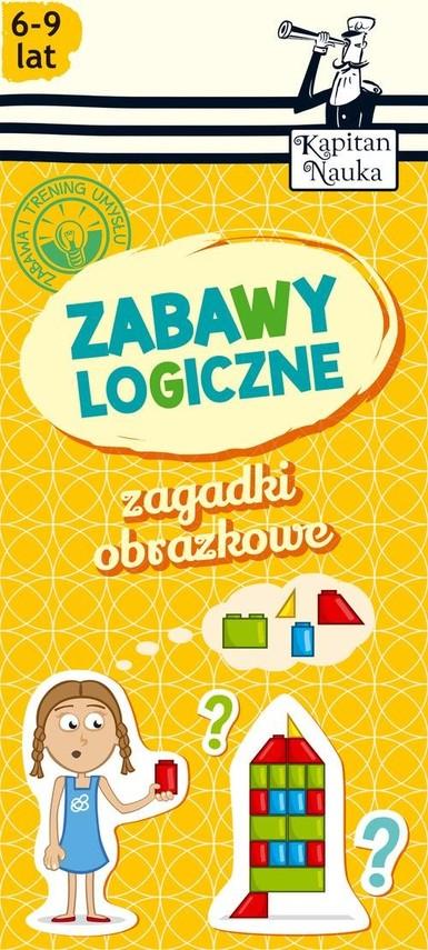 okładka Zagadki obrazkowe Zabawy logiczne 6-9 lat, Książka | Natalia Minge, Krzysztof Minge
