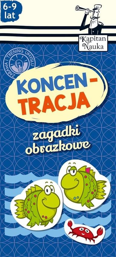okładka Zagadki obrazkowe Koncentracja 6-9 lat, Książka   Trepczyńska Magdalena
