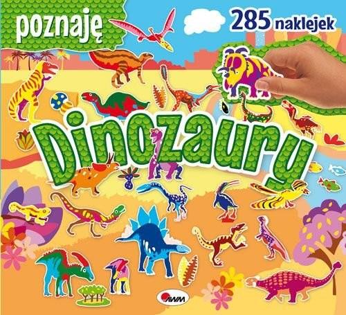 okładka Poznaję dinozaury 285 naklejek, Książka   Miłoszewski Leszek