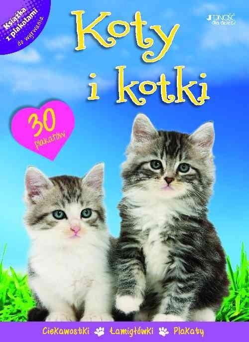 okładka Koty i kotki Książka z plakatami, Książka | Praca Zbiorowa