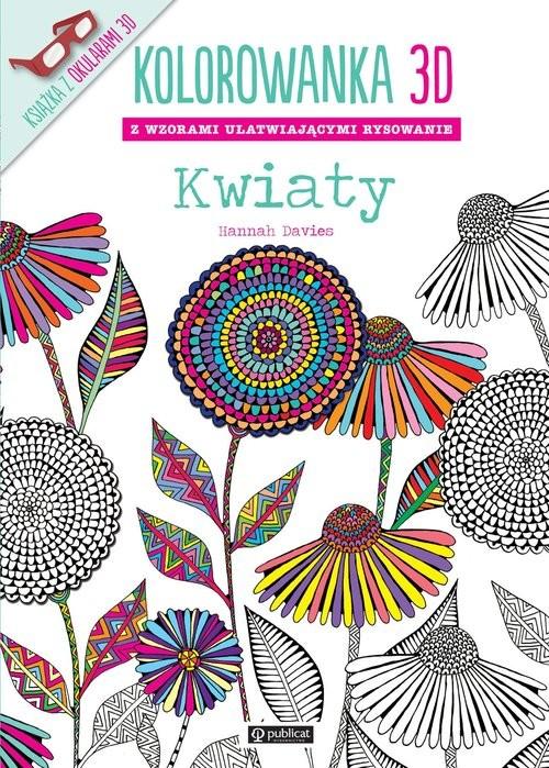 okładka Kolorowanka 3D Kwiaty, Książka | Davies Hannah