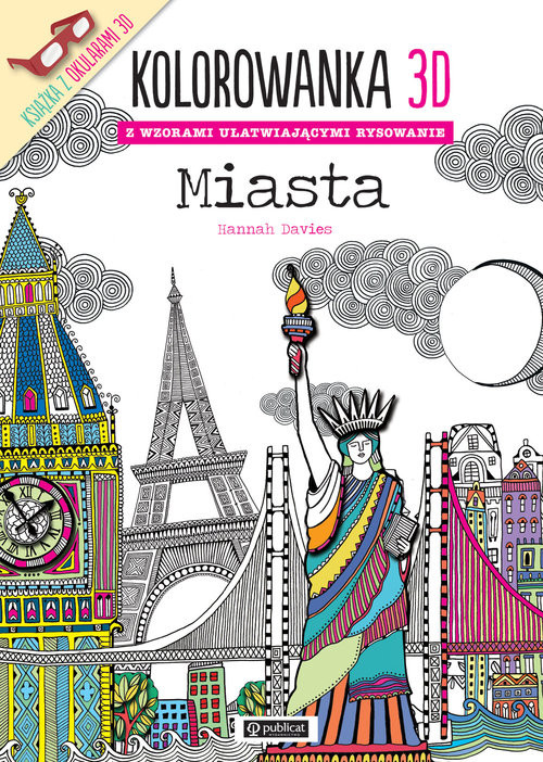 okładka Kolorowanka 3D Miasta, Książka | Davies Hannah