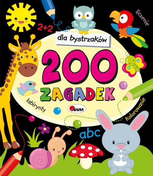 okładka Dla bystrzaków 200 zagadek, Książka   Czarnecka Jolanta