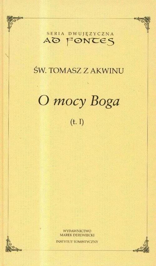 okładka O mocy Boga Tom 1, Książka | z Akwinu Tomasz