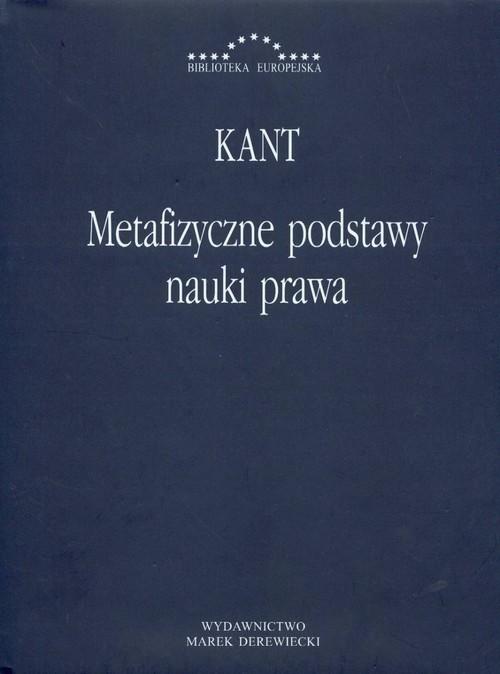 okładka Metafizyczne podstawy nauki prawa, Książka | Kant Immanuel