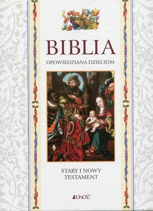 okładka Biblia opowiedziana dzieciom Stary i Nowy Testament etui, Książka |