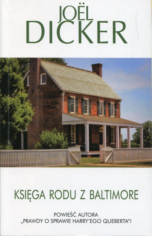 okładka Księga rodu z Baltimore, Książka | Dicker Joel