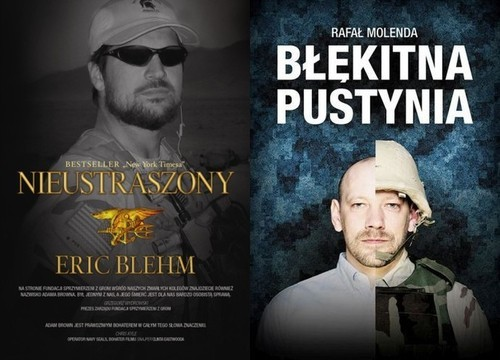 okładka Błękitna pustynia / Nieustraszony Pakiet Męski prezent, Książka | Rafał Molenda, Eric Blehm