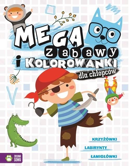 okładka Megazabawy i kolorowanki dla chłopców, Książka | Praca Zbiorowa