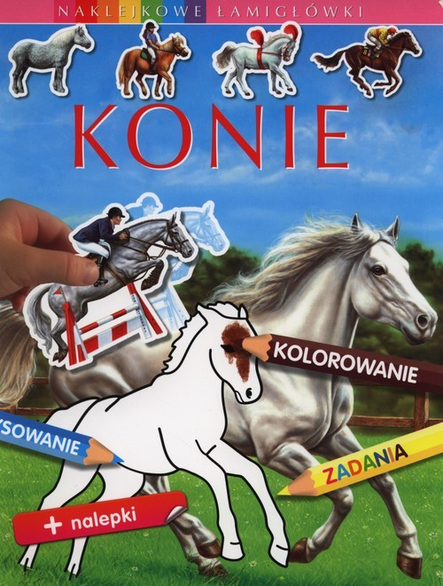 okładka Konie Naklejkowe łamigłówki, Książka | Emilie Beaumont