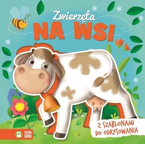 okładka Książka z szablonem Zwierzęta na wsi, Książka  