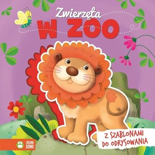 okładka Książka z szablonem Zwierzęta w zoo, Książka  