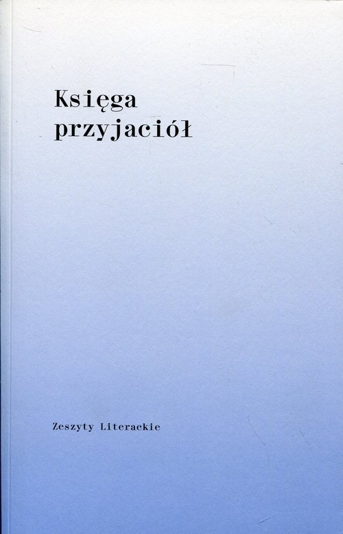 okładka Księga przyjaciół dla Barbary Toruńczyk, Książka  