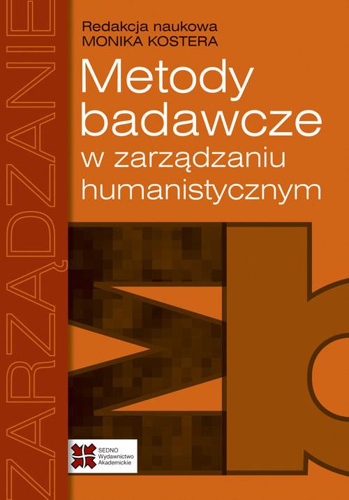 okładka Metody badawcze w zarządzaniu humanistycznym, Książka |