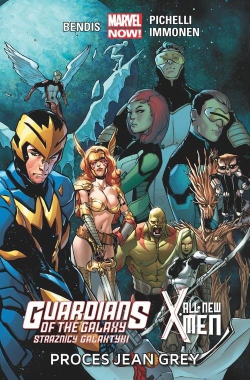 okładka Guardians of the Galaxy Strażnicy Galaktyki / All-New X-Men: Proces Jean Grey, Książka | Brian Michael Bendis, Sara Pichelli, Immonen