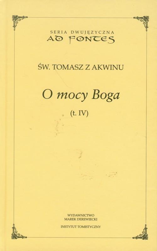 okładka O mocy Boga Tom 4, Książka | z Akwinu Tomasz