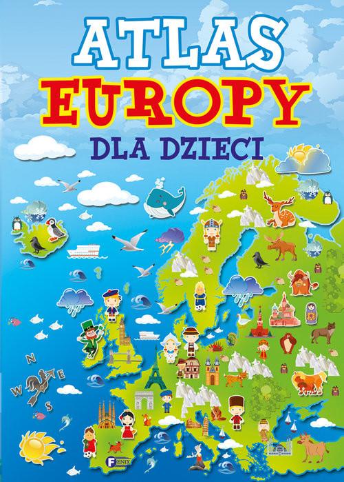 okładka Atlas Europy dla dzieci, Książka  