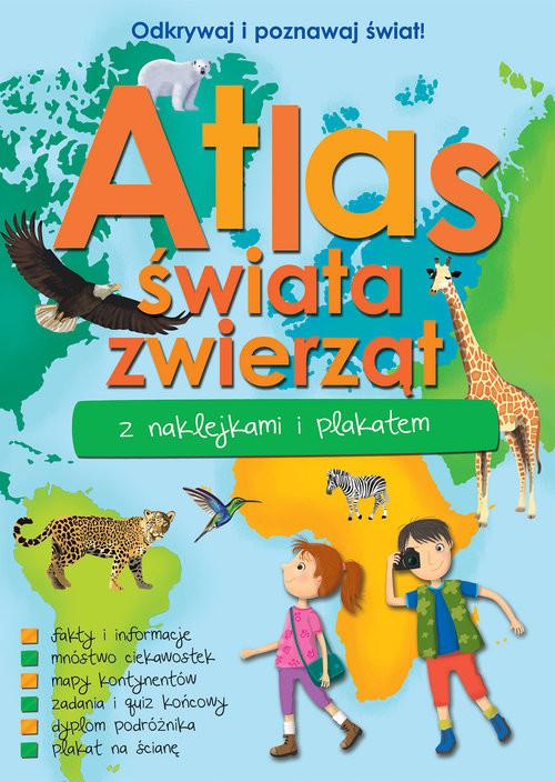 okładka Atlas zwierząt świata z naklejkami i plakatemksiążka |  |