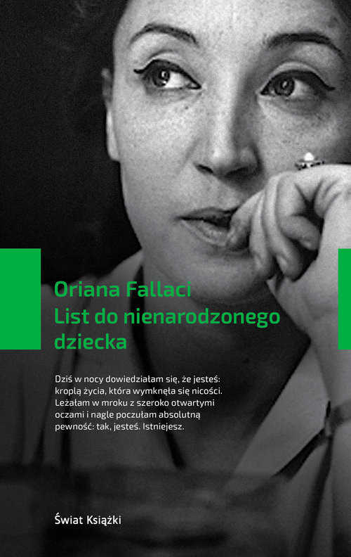 okładka List do nienarodzonego dziecka, Książka | Fallaci Oriana