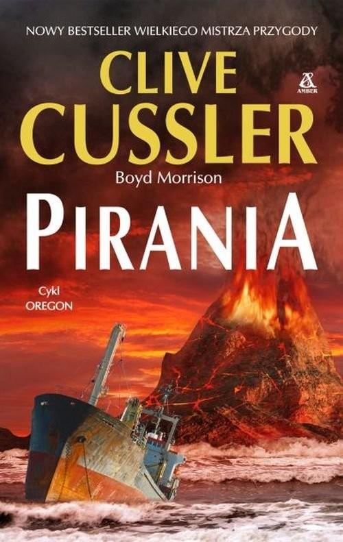 okładka Pirania, Książka | Cussler Clive