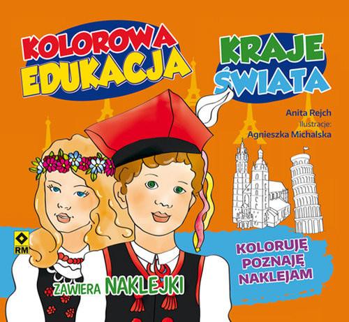 okładka Kolorowa edukacja Kraje świata Naklejka, Książka | Rejch Anita