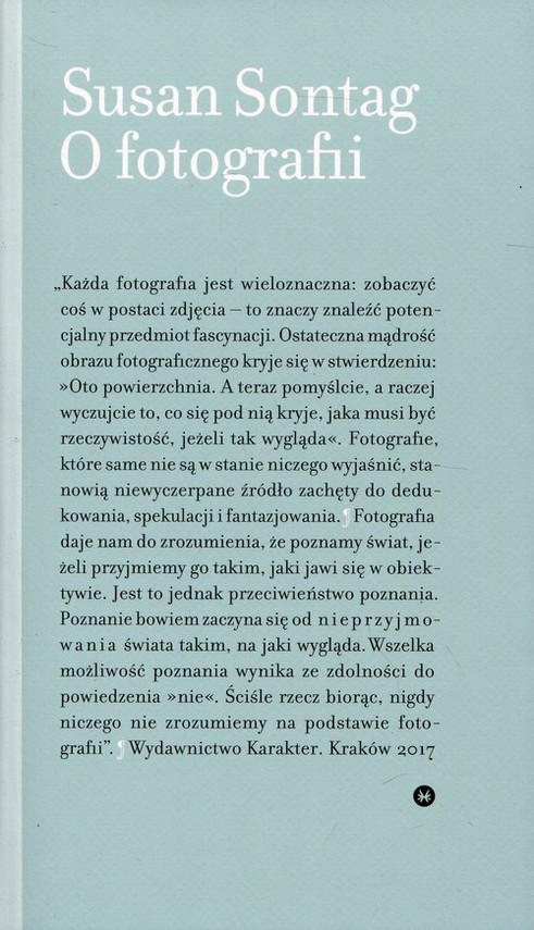 okładka O fotografii, Książka | Sontag Susan