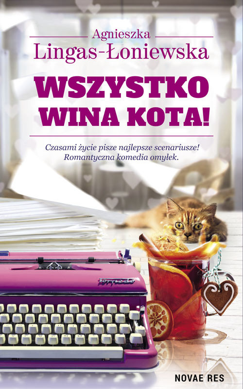 okładka Wszystko wina kota, Książka   Agnieszka Lingas-Łoniewska