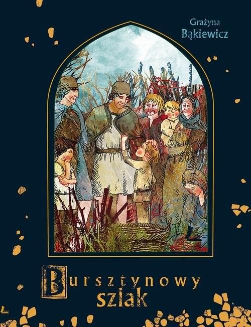 okładka A to historia Bursztynowy szlak, Książka | Bąkiewicz Grażyna