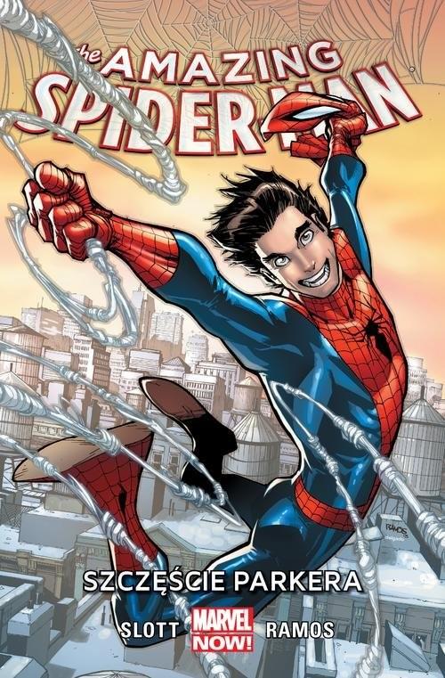 okładka Amazing Spider-Man Tom 1 Szczęście Parkera, Książka | Dan Slott, Humberto Ramos