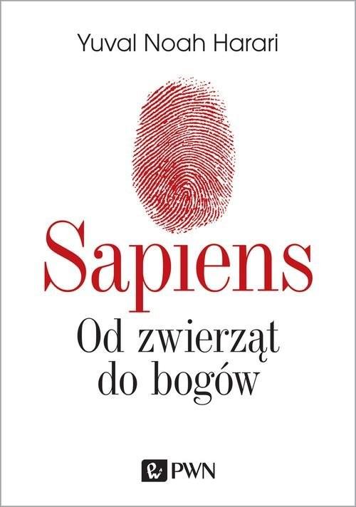 okładka Sapiens Od zwierząt do bogówksiążka      Yuval Noah  Harari