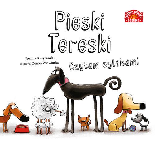 okładka Pieski Tereski Czytam sylabami, Książka | Joanna  Krzyżanek