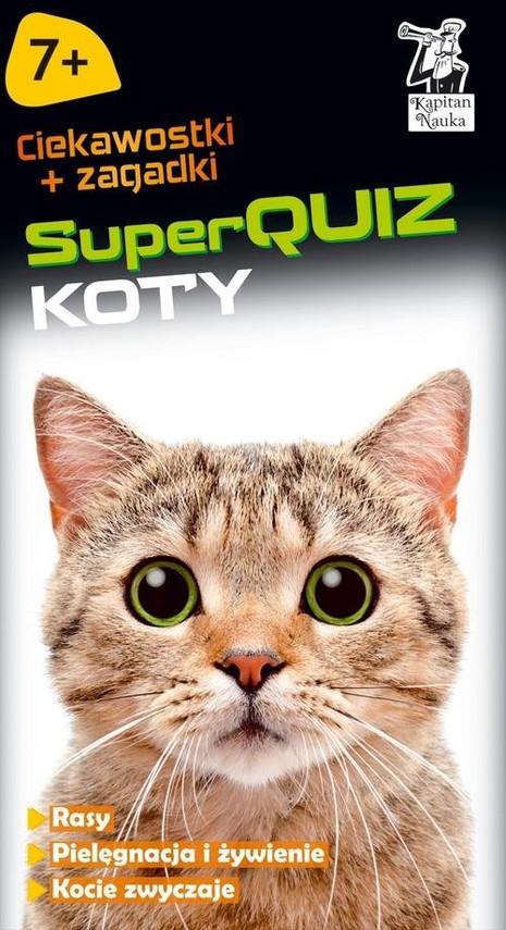 okładka SuperQUIZ Koty, Książka | Biegańska-Hendryk Małgorzata