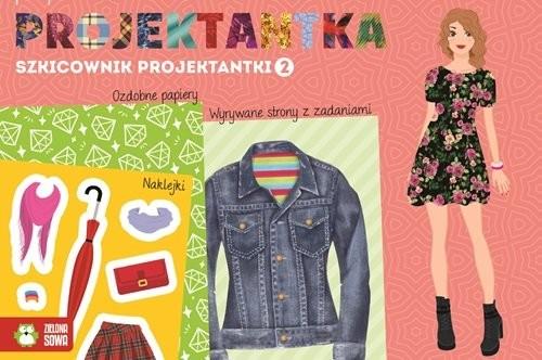 okładka Szkicownik projektantki 2 Mała projektantka, Książka  
