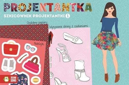 okładka Szkicownik projektantki 1 Mała projektantka, Książka  