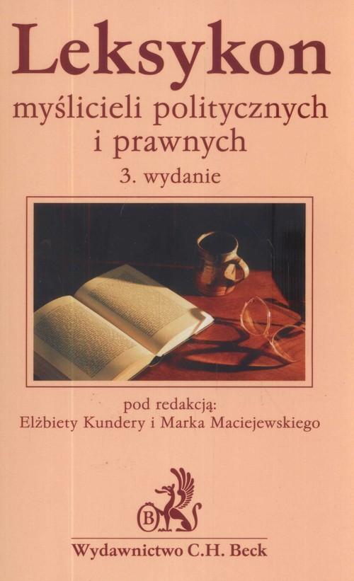 okładka Leksykon myślicieli politycznych i prawnych, Książka |