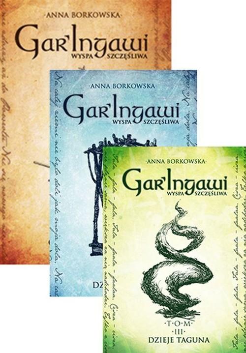 okładka Gar Ingawi Wyspa Szczęśliwa Tom 1-3 Pakiet, Książka | Borkowska Anna