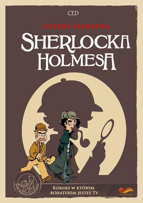 okładka Cztery śledztwa Sherlocka Holmesa Komiks paragrafowyksiążka      Shuky Shuky