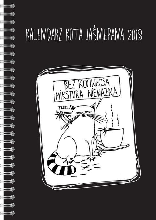 okładka Kalendarz Kota Jaśniepana 2018, Książka | Gałęzia Magdalena