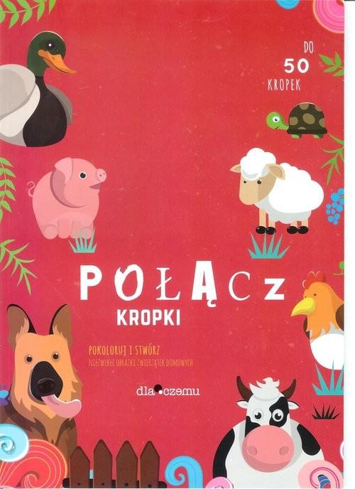 okładka Połącz kropki Pokoloruj i stwórz niezwykłe obrazki zwierzątek domowych, Książka  