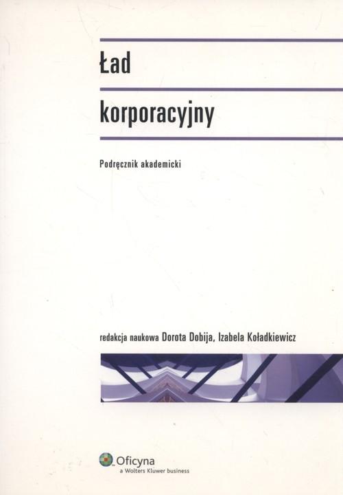 okładka Ład korporacyjny Podręcznik akademicki, Książka |