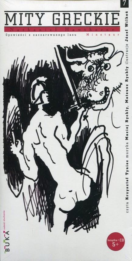 okładka Mity greckie 7 Minotaur + CD, Książka | Nathaniel  Hawthorne