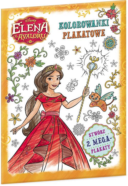 okładka Elena z Avaloru Kolorowanki plakatowe, Książka |