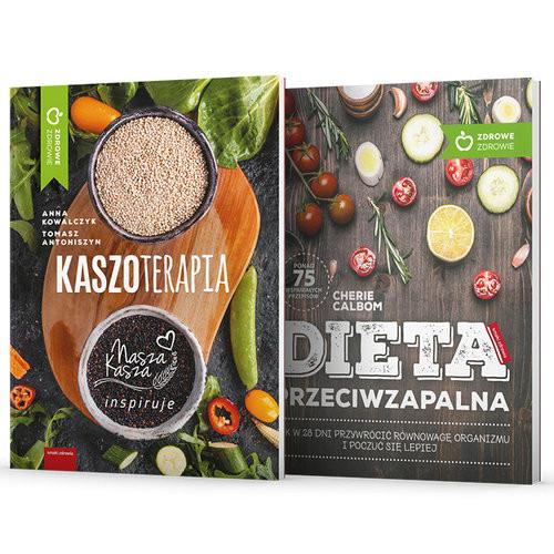 okładka Dieta przeciwzapalna / Kaszoterapia Pakiet, Książka   Calbom Cherie, Kowalczyk Anna, Antonis Tomasz