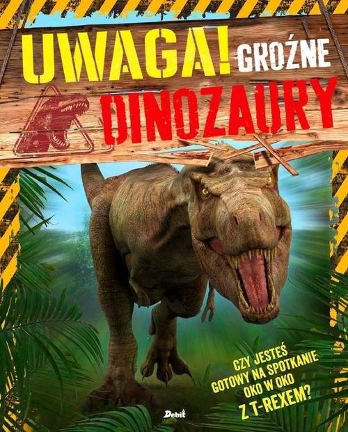 okładka Uwaga! Groźne dinozaury, Książka   Hibbert Clare